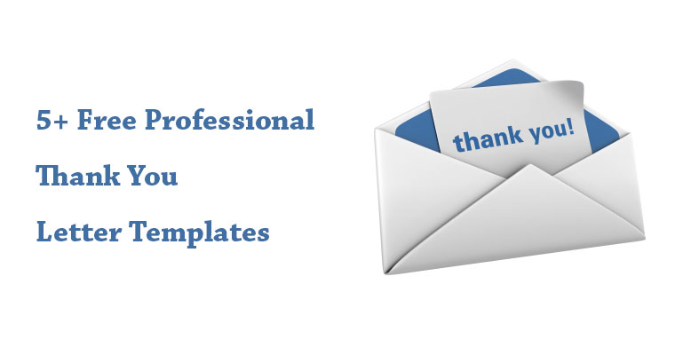 Professional Thank You Letter from professionaletters.com