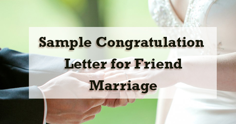 Congratulation Letter for Friend Marriage