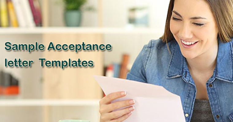 Sample Acceptance letter Templates