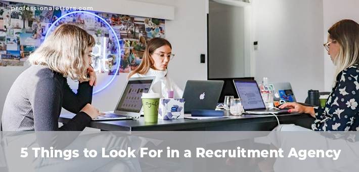 Things to Look For in a Recruitment Agency